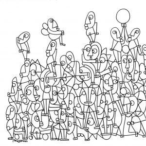 Nissim Ben Aderet, Jump Ball 110 x 70 cm